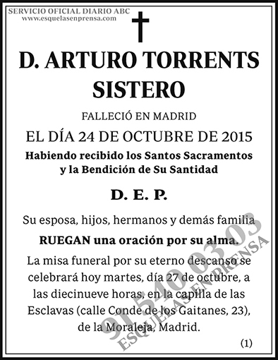 Arturo Torrents Sistero